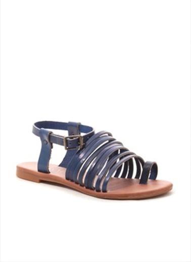Gio&Mi %100 Deri Sandalet Lacivert